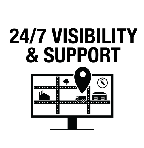 24/7 support and leading customer service in retail logistics and transportation